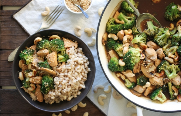 Stir-Fry Teriyaki Chicken with Broccoli & Mushrooms