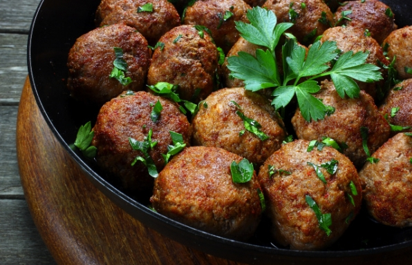 Oven Baked Meatballs with Burghul