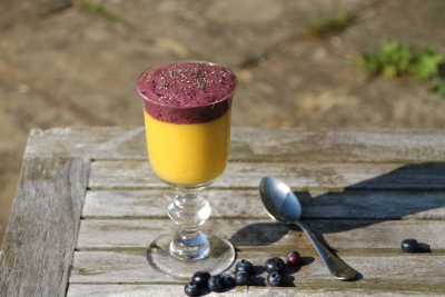 mango smoothie superfood topping