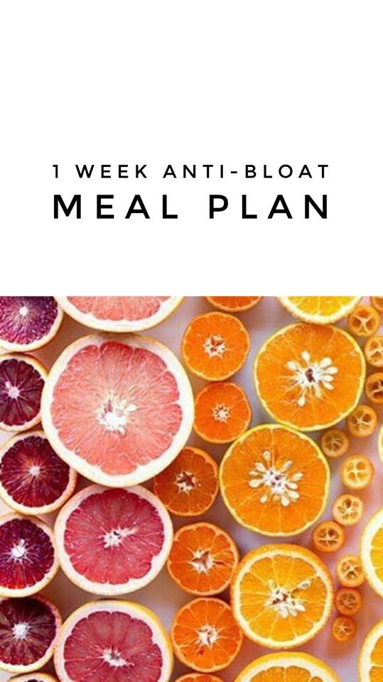 Anti-Bloat Weekly Meal Plan