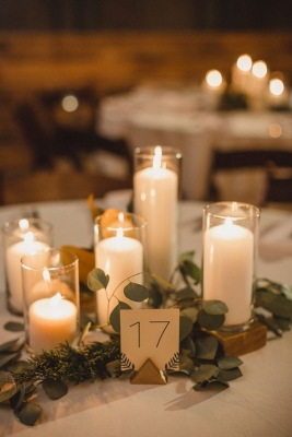 candle centrepieces