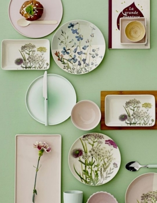 spring plates and bowls