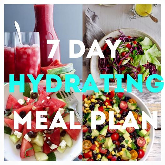 Summer Hydrating Weekly Meal Plan