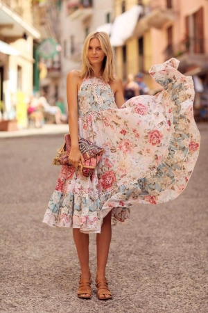 floral ruffle